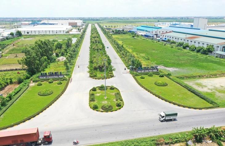 Hình ảnh Khu công nghiệp Yên Mỹ II (ảnh: TN)