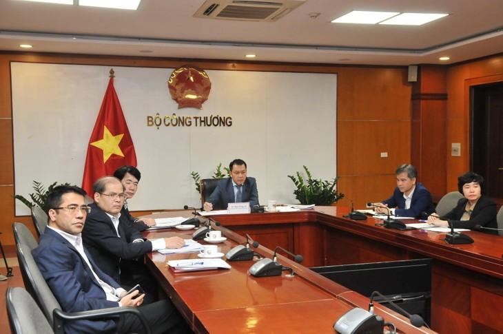 """Thứ trưởng Bộ Công Thương cùng các đại diện phía Việt Nam tham dự Đối thoại quốc tế về chuyển đổi năng lượng Berlin năm 2021 và thảo luận tại Phiên họp với chủ đề: """"Thiết kế thị trường thông minh cho chuyển đổi năng lượng toàn cầu"""" (ảnh: MK)"""