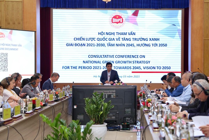 Bộ trưởng Bộ Kế hoạch và Đầu tư Nguyễn Chí Dũng phát biểu tại Hội nghị (ảnh: TT)