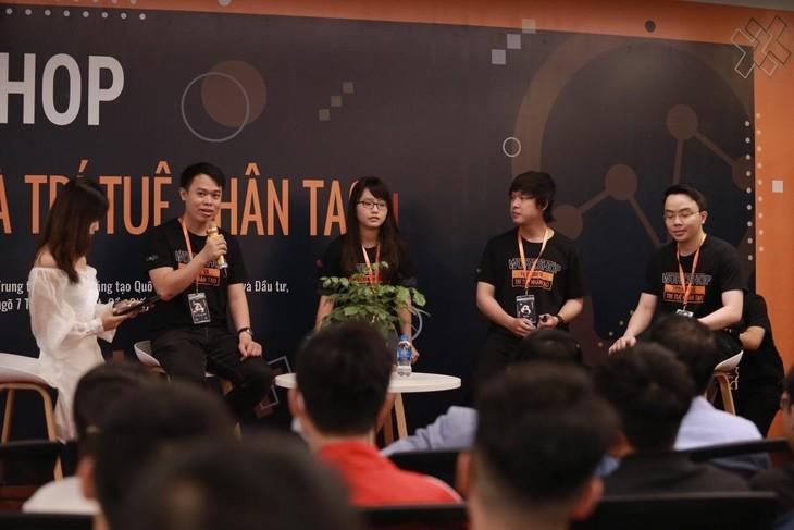 Tọa đàm thu hút sự tham gia của hơn 350 sinh viên ngành công nghệ thông tin (ảnh: NIC)