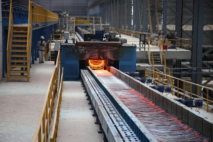 Dây chuyền công nghệ sản xuất thép chất lượng cao (ảnh: TN)