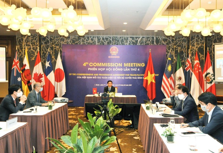 Bộ trưởng Bộ Công Thương Nguyễn Hồng Diên cùng đoàn Việt Nam tham dự Phiên họp sáng ngày 2/6/2021 (ảnh: MK)