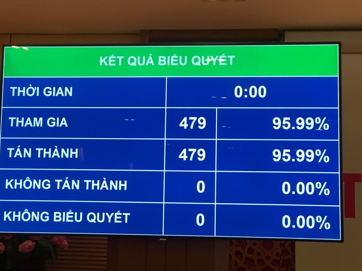 Kết quả biểu quyết thông qua Nghị quyết về kế hoạch tài chính quốc gia và vay, trả nợ công 5 năm giai đoạn 2021 - 2025