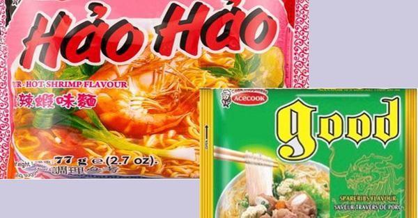 Cơ quan An toàn thực phẩm Ireland thông báo thu hồi một số lô mì Hảo Hảo và miến Good do Công ty Acecook Việt Nam sản xuất do có chứa chất Ethylene Oxide (ảnh: Moit)