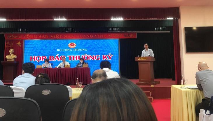 Ông Hoàng Tiến Dũng, Cục trưởng Cục Điện lực và Năng lượng tái tạo thuộc Bộ Công Thương tại cuộc họp báo