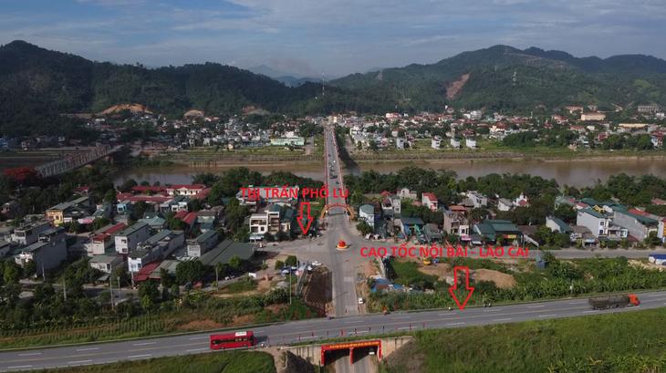 Nút giao Phố Lu - Bảo Thắng sẽ giúp kết nối cao tốc Nội Bài - Lào Cai với các huyện Bảo Thắng, Si Ma Cai, Bắc Hà (Lào Cai) và các địa phương lân cận
