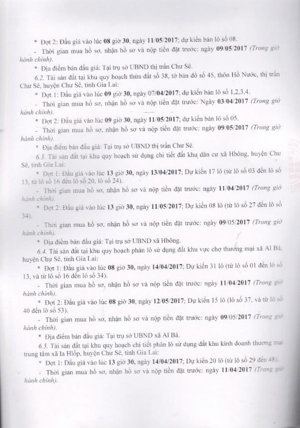 Đấu giá quyền sử dụng đất tại huyện Chư Sê, Gia Lai ảnh 3