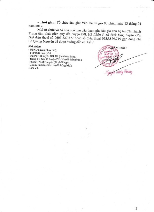 Đấu giá quyền sử dụng đất tại huyện Đăk Hà, Kon Tum ảnh 2