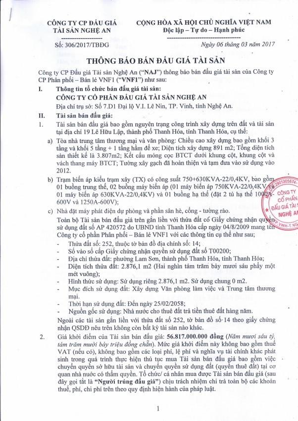 Đấu giá công trình nguyên trạng trên đất và tài sản tại TP Thanh Hóa, Thanh Hóa ảnh 1
