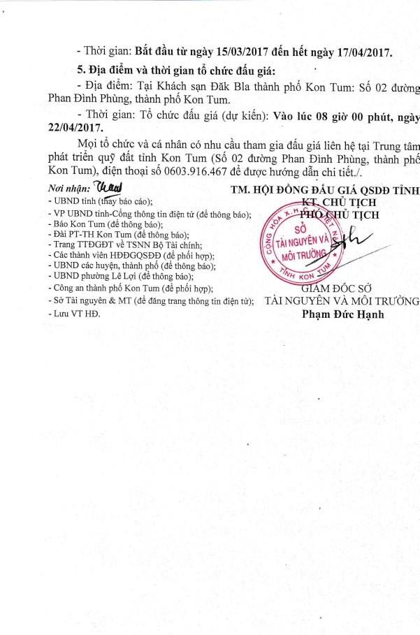 Đấu giá quyền sử dụng đất tại TP.Kon Tum, Kon Tum ảnh 2