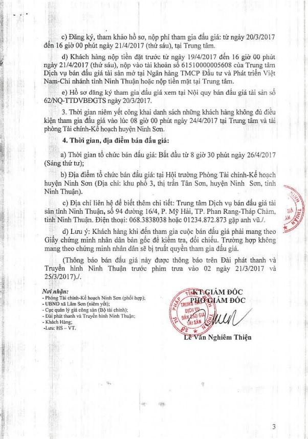 Đấu giá quyền sử dụng đất tại huyện Ninh Sơn, Ninh Thuận ảnh 3