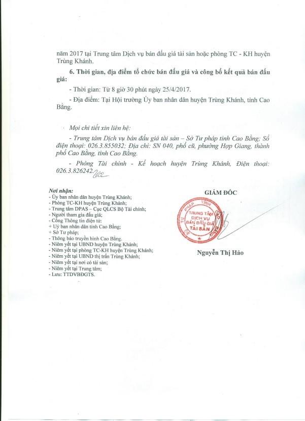 Đấu giá quyền sử dụng đất và tài sản trên đất tại huyện Trùng Khánh, Cao Bằng ảnh 2