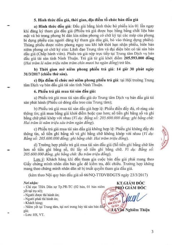 Đấu giá xe ô tô tải thùng tại Ninh Thuận ảnh 3