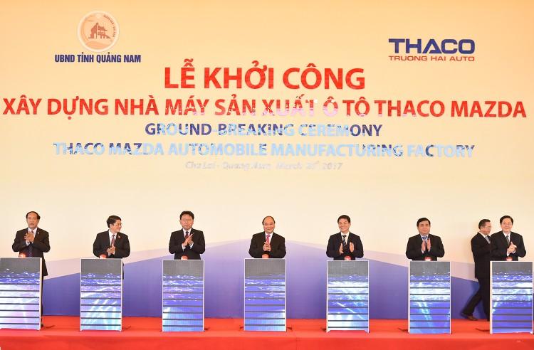 Thủ tướng ấn nút khởi công nhà máy ô tô nửa tỷ USD tại Quảng Nam ảnh 1