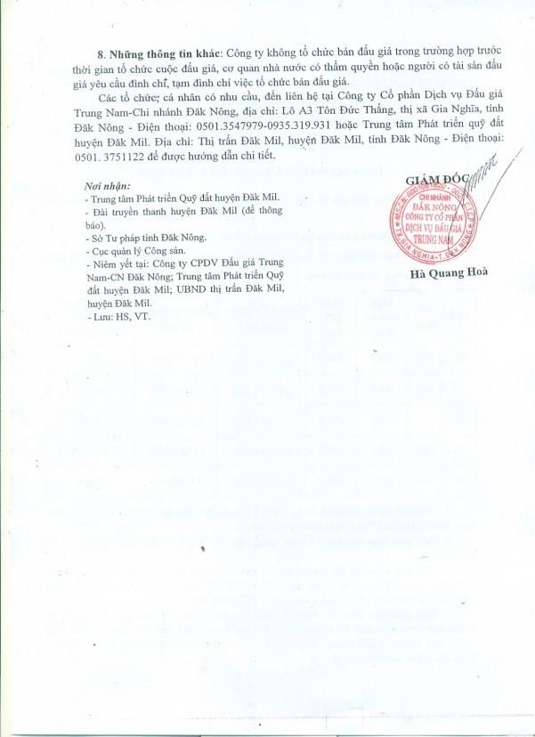 Đấu giá quyền sử dụng đất tại huyện Đăk Mil, Đắk Nông ảnh 2