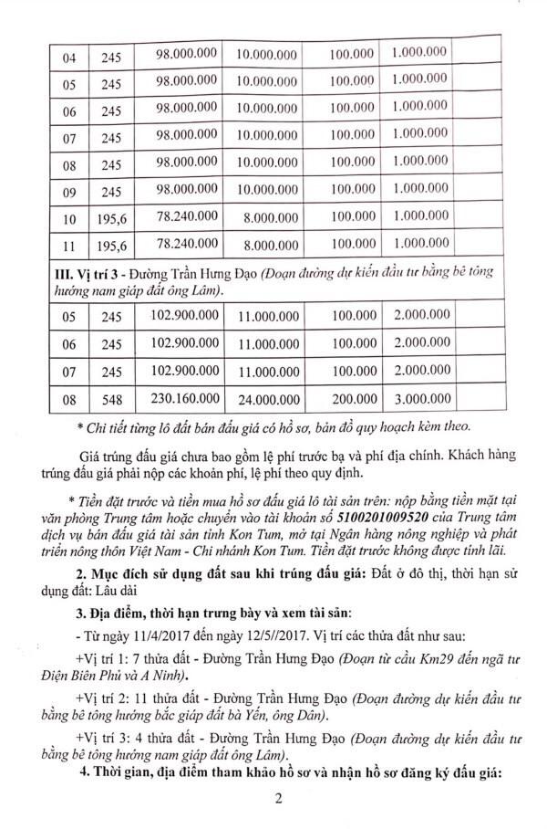 Đấu giá quyền sử dụng đất tại huyện Sa Thầy, Kon Tum ảnh 2