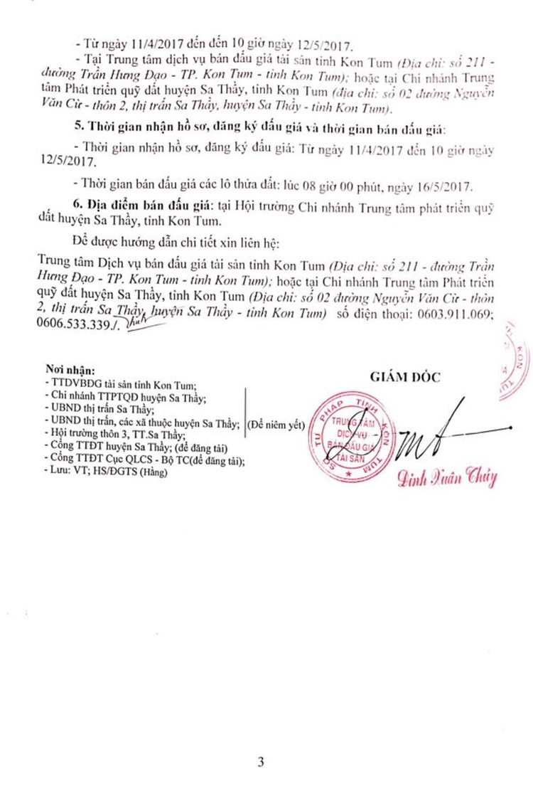 Đấu giá quyền sử dụng đất tại huyện Sa Thầy, Kon Tum ảnh 3