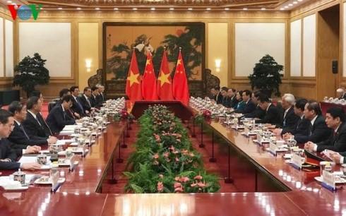 Chủ tịch nước Trần Đại Quang hội đàm với Tổng Bí thư, Chủ tịch Trung Quốc ảnh 1