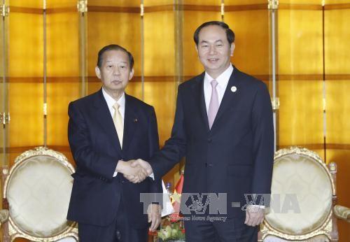 Chủ tịch nước gặp Thủ tướng Pakistan, Tổng Thư ký Đảng Dân chủ Tự do Nhật Bản ảnh 1