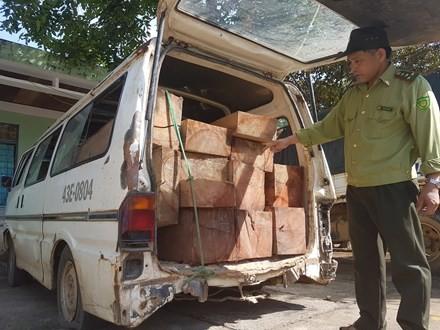 Làm rõ vụ xe biển xanh chở gỗ lậu ở Quảng Nam ảnh 2