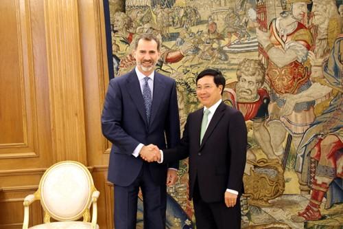 Phó Thủ tướng Phạm Bình Minh hội kiến Nhà vua, hội đàm với Ngoại trưởng Tây Ban Nha ảnh 1