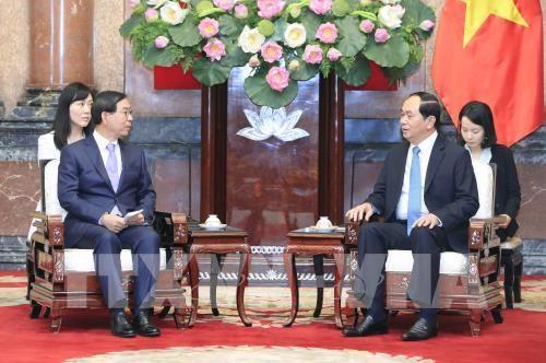 Chủ tịch nước Trần Đại Quang tiếp Đặc phái viên của Tổng thống Hàn Quốc ảnh 1