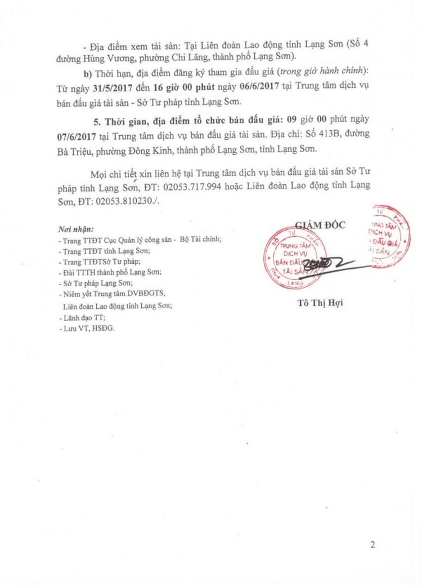 Đấu giá xe ô tô tại Lạng Sơn ảnh 2