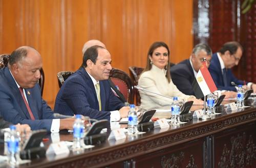Thủ tướng Nguyễn Xuân Phúc tiếp Tổng thống Ai Cập ảnh 1