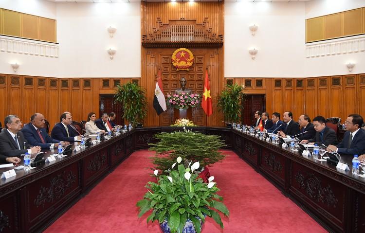 Thủ tướng Nguyễn Xuân Phúc tiếp Tổng thống Ai Cập ảnh 3