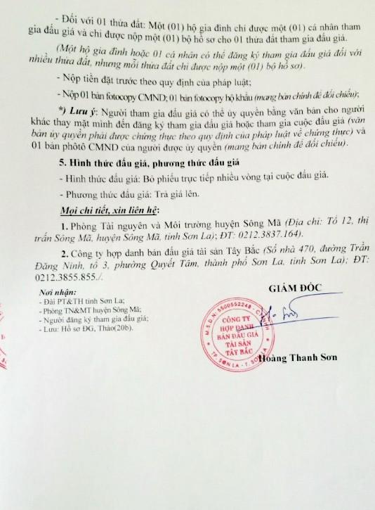 Đấu giá quyền sử dụng đất tại huyện Sông Mã, Sơn La ảnh 3