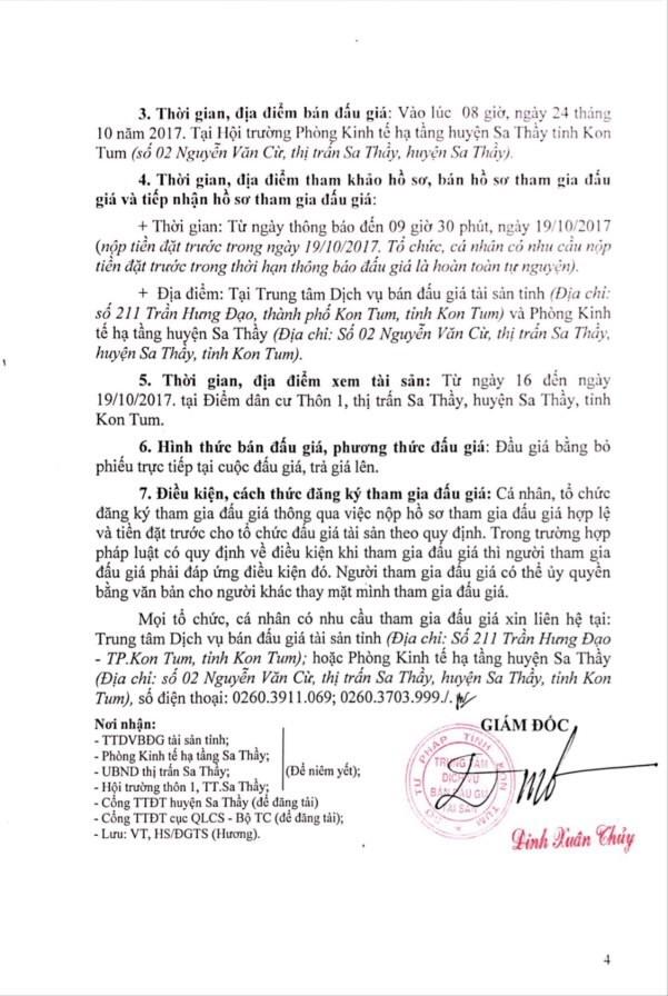 Đấu giá quyền sử dụng đất tại huyện Sa Thầy, Kon Tum ảnh 4