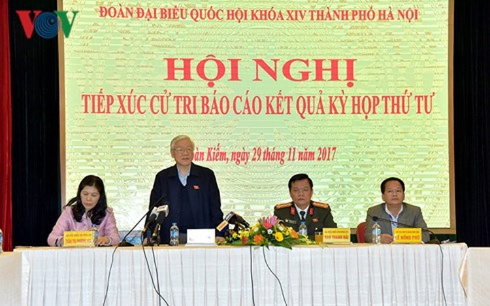Tổng Bí thư Nguyễn Phú Trọng tiếp xúc cử tri Hà Nội ảnh 1