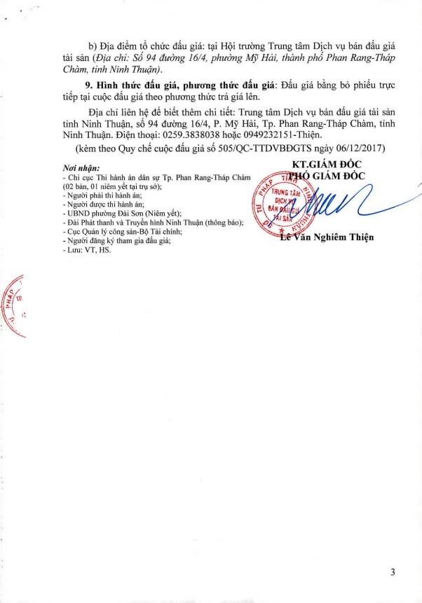 Đấu giá quyền sử dụng đất, quyền sở hữu nhà và TSGLVĐ tại TP.Phan Rang-Tháp Chàm, Quảng Ngãi ảnh 3