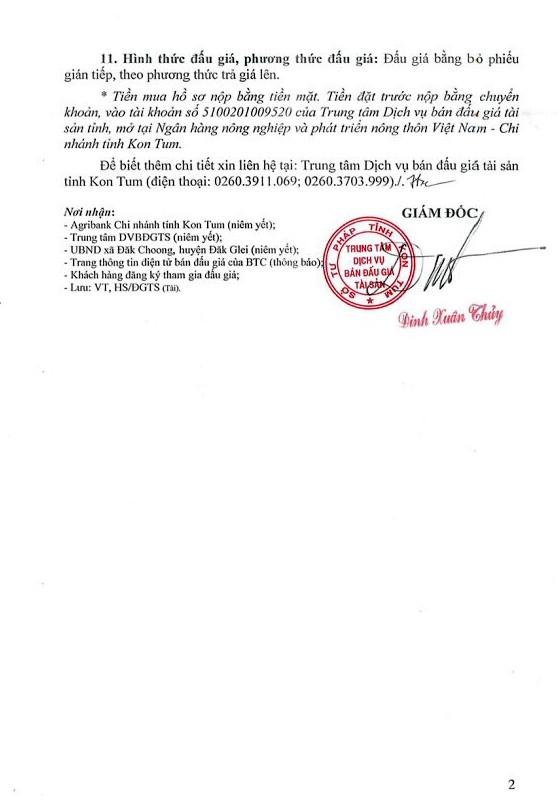 Đấu giá quyền sử dụng đất, TSGLTĐ và Nhà máy thủy điện Đắk Mek 3 tại Kon Tum ảnh 2