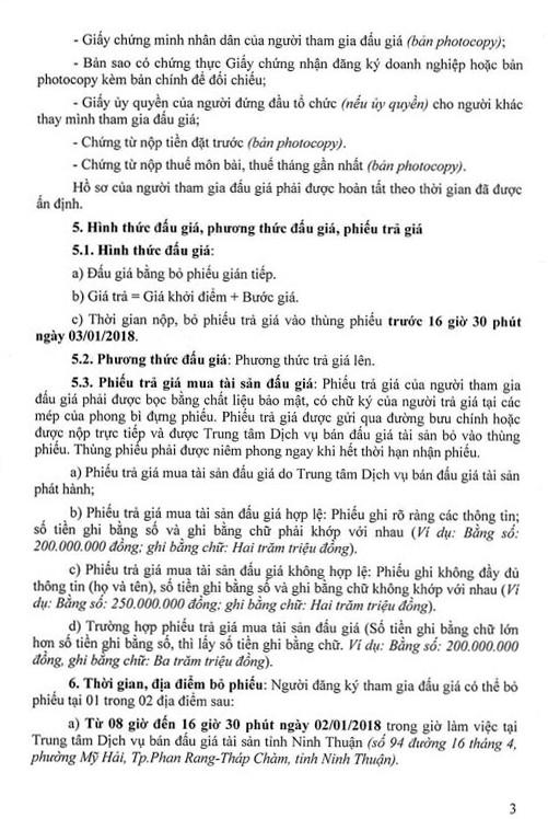 Đấu giá quyền sử dụng đất tại huyện Thuận Nam, Ninh Thuận ảnh 3