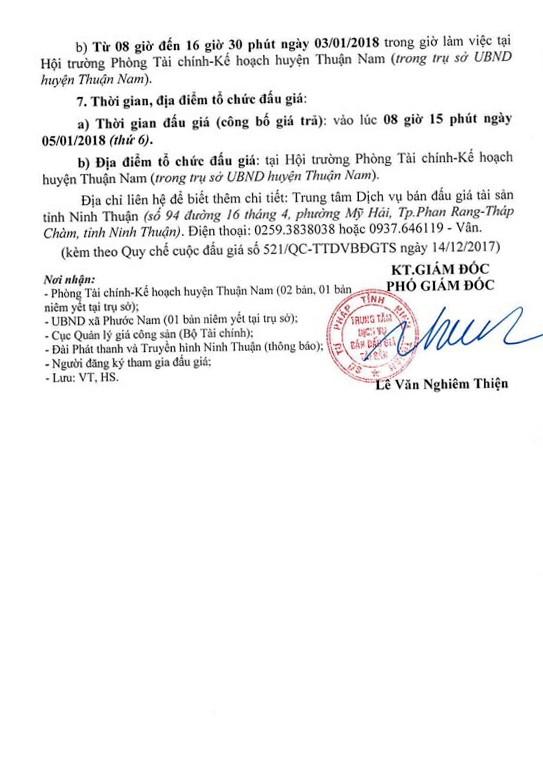 Đấu giá quyền sử dụng đất tại huyện Thuận Nam, Ninh Thuận ảnh 4