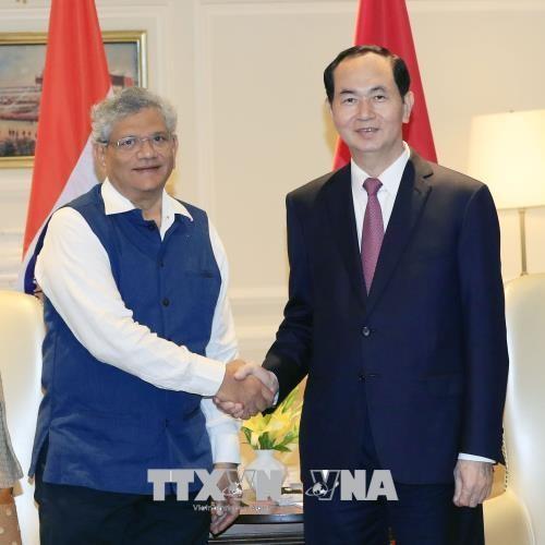 Chủ tịch nước tiếp lãnh đạo hai Đảng Cộng sản của Ấn Độ ảnh 1