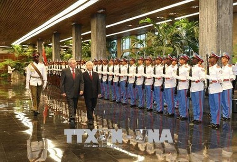 Tổng Bí thư Nguyễn Phú Trọng hội đàm với Chủ tịch Cuba Raul Castro ảnh 1