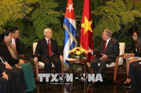 Tổng Bí thư Nguyễn Phú Trọng hội đàm với Chủ tịch Cuba Raul Castro ảnh 2