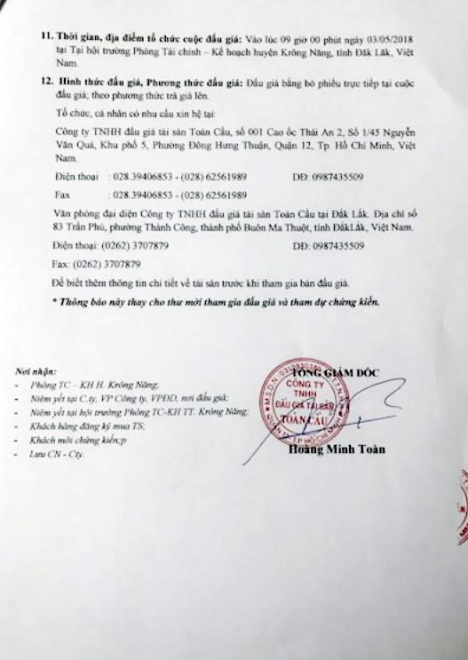 Đấu giá xe chuyên dùng chở rác tại Đắk Lắk ảnh 3