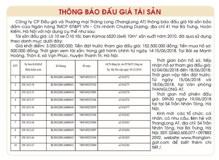 Đấu giá xe ô tô tại Hà Nội ảnh 1