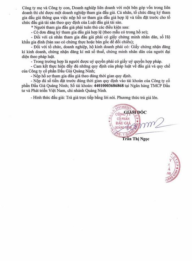 Ngày 23/8 đấu giá máy móc thiết bị tại Quảng Ninh ảnh 2