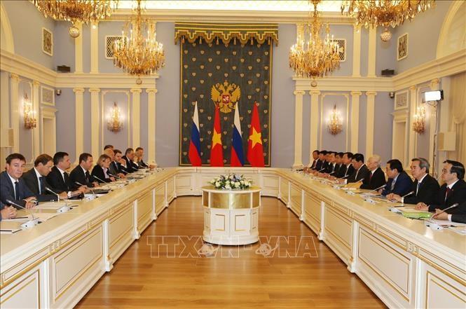 Tổng Bí thư hội kiến Thủ tướng Liên bang Nga ảnh 1