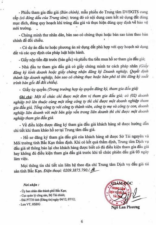Ngày 27/12/2018, đấu giá quyền sử dụng đất tại thành phố Bắc Kạn, tỉnh Bắc Kạn ảnh 6