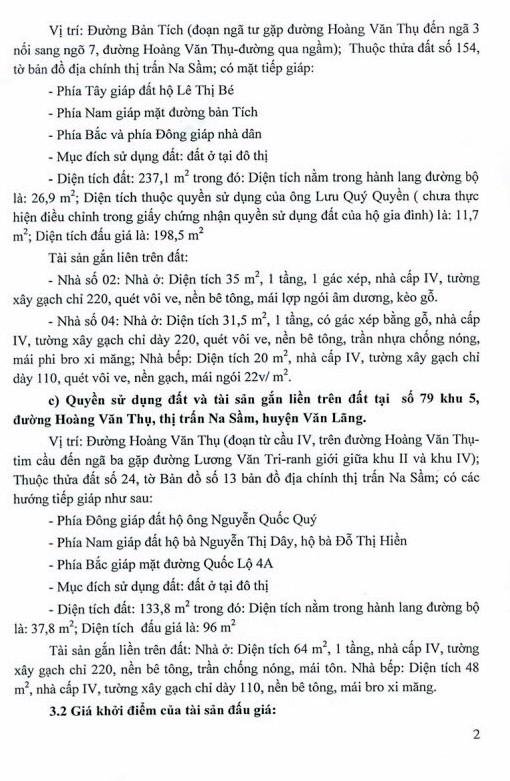 Ngày 27/12/2018, đấu giá quyền sử dụng đất và tài sản trên đất tại huyện Văn Lãng, tỉnh Lạng Sơn ảnh 2
