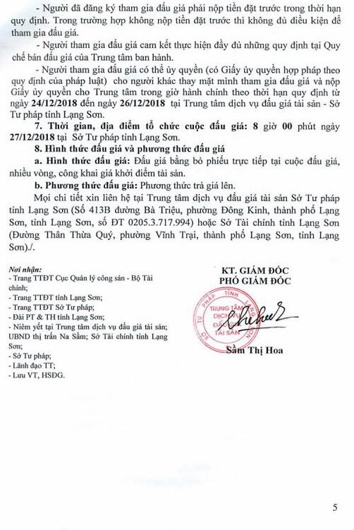Ngày 27/12/2018, đấu giá quyền sử dụng đất và tài sản trên đất tại huyện Văn Lãng, tỉnh Lạng Sơn ảnh 5