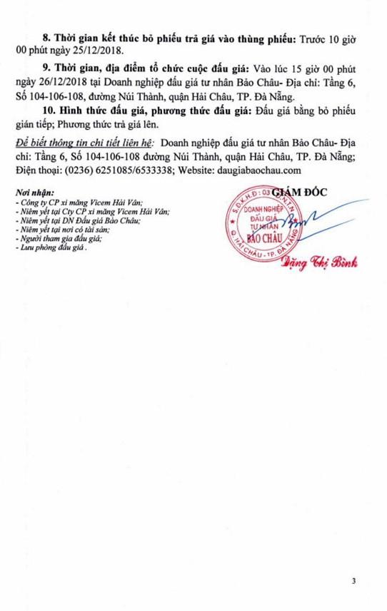 Ngày 26/12/2018, đấu giá lô máy móc thiết bị và phương tiện vận tải tại thành phố Đà Nẵng ảnh 3