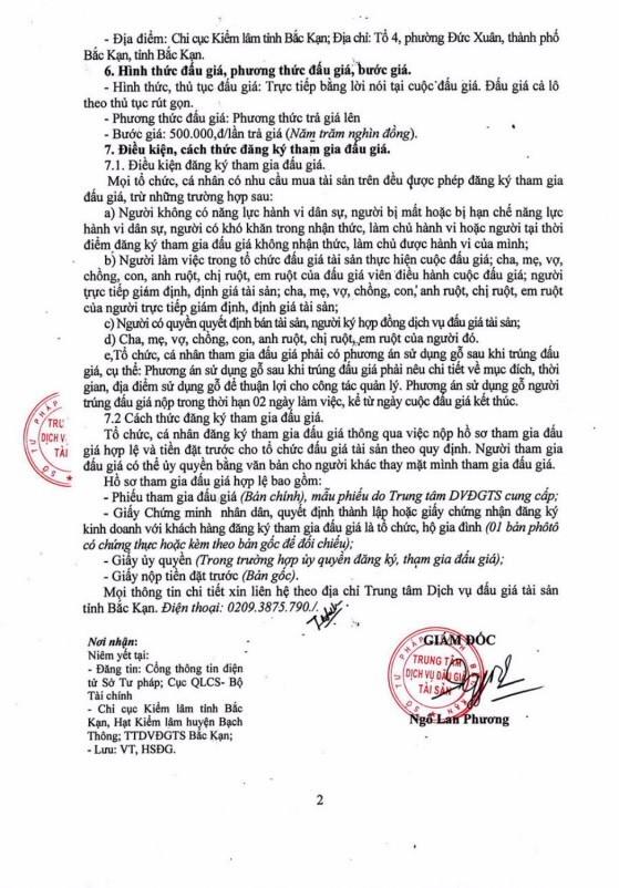 Ngày 27/12/2018, đấu giá tang vật vi phạm hành chính tại tỉnh Bắc Kạn ảnh 2
