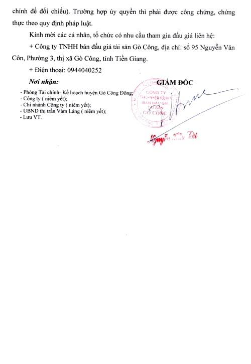 Ngày 18/3/2019, đấu giá thanh lý trụ sở làm việc và Hội trường của UBND thị trấn Vàm Láng, huyện Gò Công Đông (tỉnh Tiền Giang) ảnh 4