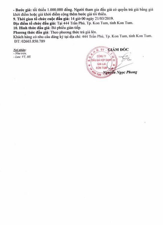 Ngày 21/3/2019, đấu giá vật chứng bị tịch thu sung công quỹ tại tỉnh Kon Tum ảnh 2
